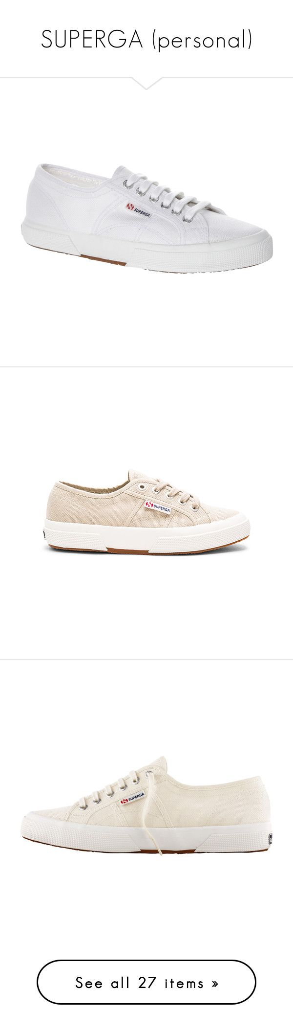 """SUPERGA (personal)"" by whoranizer ❤ liked on Polyvore featuring shoes, sneakers, white, white canvas sneakers, tennis trainer, flat sneakers, lightweight tennis shoes, lightweight sneakers, laced shoes and superga sneakers"