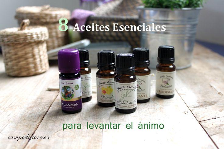 8 Aceites esenciales que te ayudarán a levantar el ánimo.  En nuestro blog te contamos cuáles debes utilizar http://www.campodifiore.es/blog/8-aceites-esenciales-para-levantar-el-animo