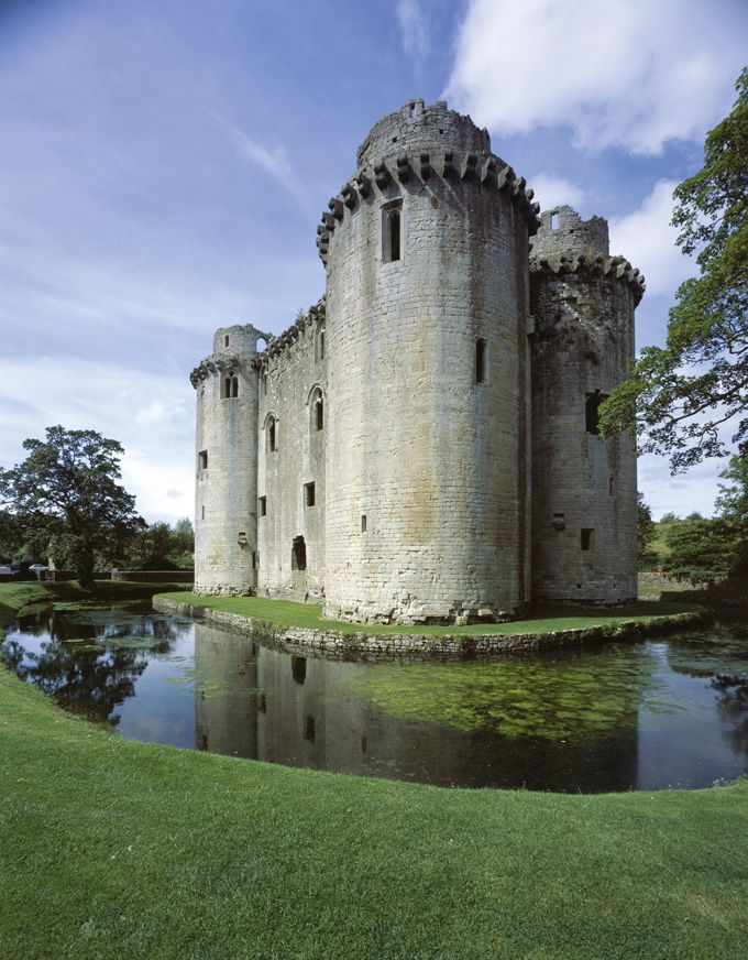 Nunney Castle in Somerset, England is Britain's smallest Castle, the tower was built by a knight called John de la Mare in 1373 under royal licence. With its turrets and moat, it is a picturesque example of a miniature British Castle