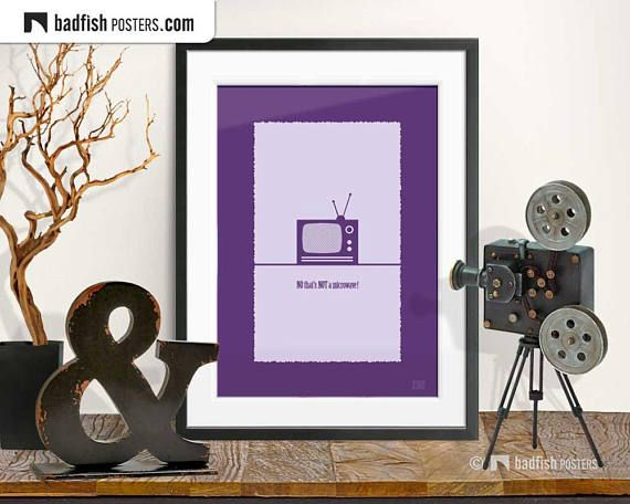 Not A Microwave Print, Purple Violet, Pop Art Design, Microwave, Old Fashioned TV, Comic Style, Wall Art, Eye Catching, Illustration, Gift