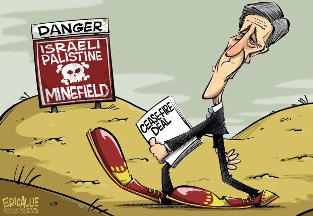 Editorial cartoon: Walking into a minefield | More editorial cartoons here: http://washingtonexaminer.com/opinion/editorial-cartoons