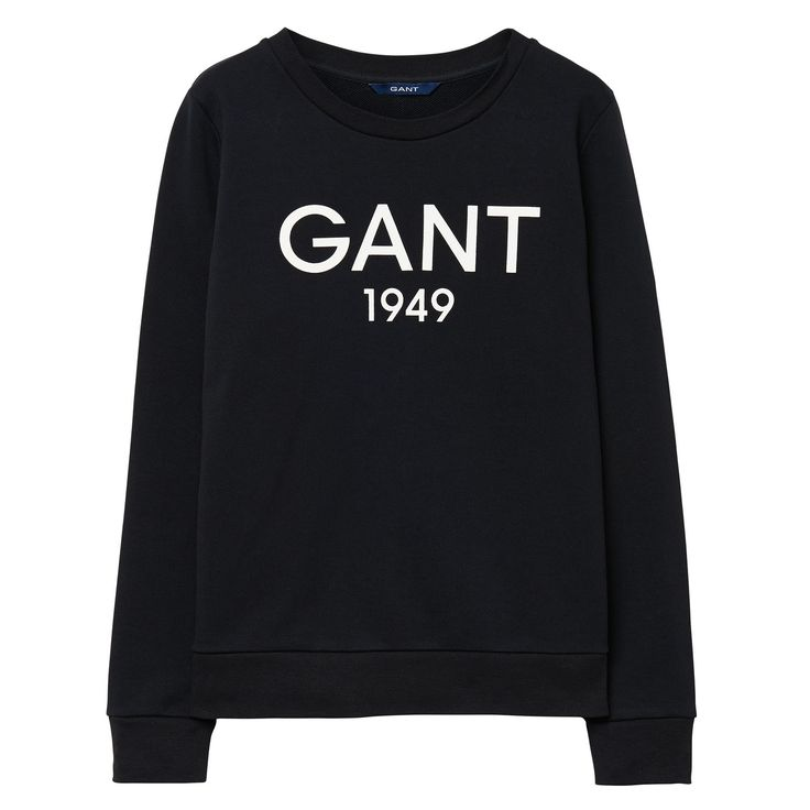 GANT Women's Printed Sweatshirt Black