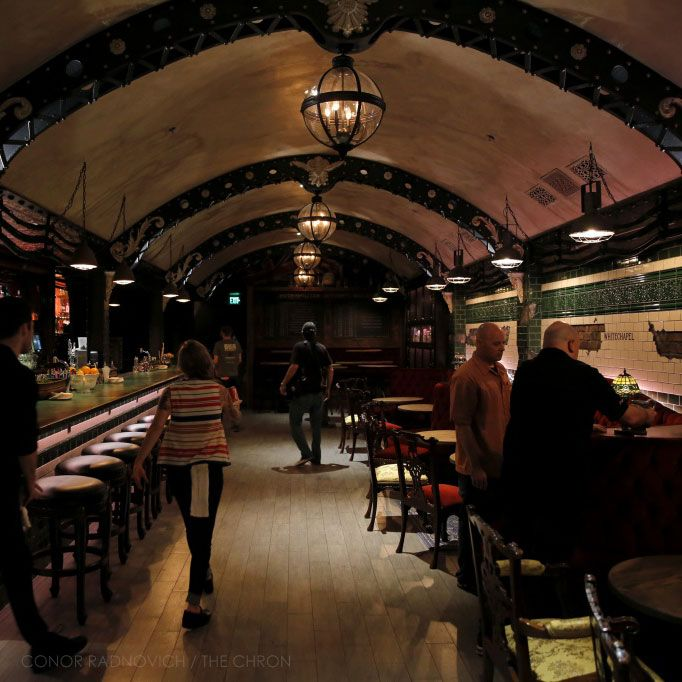 White Chapel Gin Bar - new bar in civic center by Smugglers Cove http://whitechapelsf.com/private-events/
