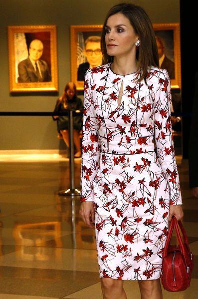 La reine Letizia d'Espagne à New York, le 19 septembre 2016