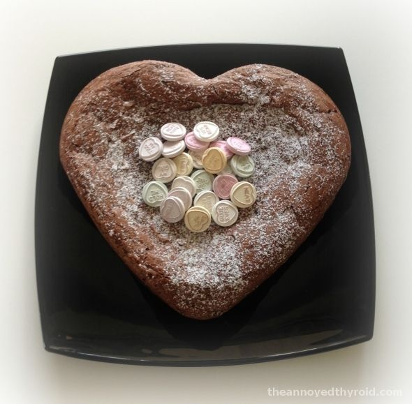 Thermomix Donna Hay's Ultimate Chocolate Dessert Cake125g butter, chopped 375g dark chocolate, broken into pieces 175g brown sugar 35g plain flour, sifted 2 tablespoons milk 120g almonds 5 eggs Cocoa or icing sugar, for dusting