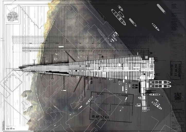 The RIBA President's Medals Student Awards > Port Of London Authority (The Rise And Fall Of The Icon) - James Wignall   Royal College of Art London UK