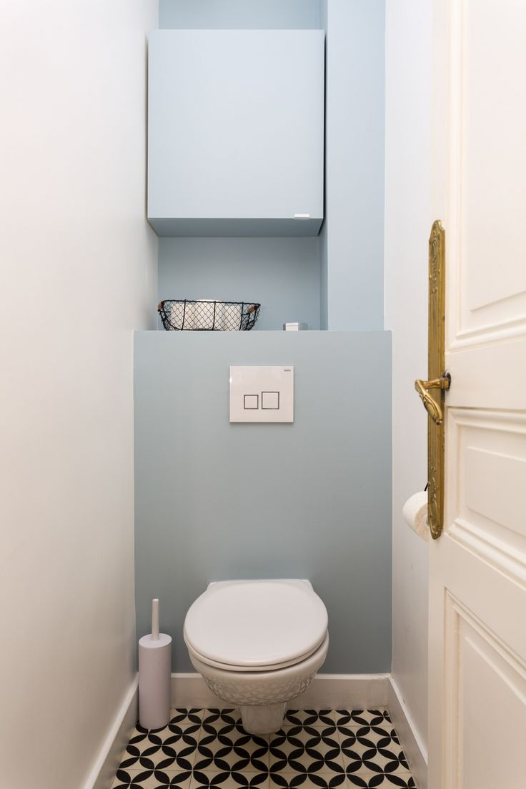 #carreaux de ciment #toilettes #wc #farrowandball …