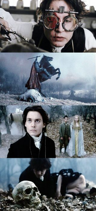 """Villainy wears many masks, none of which so dangerous as virtue"" - Ichabod Crane, Sleepy Hollow by Tim Burton (1999)"