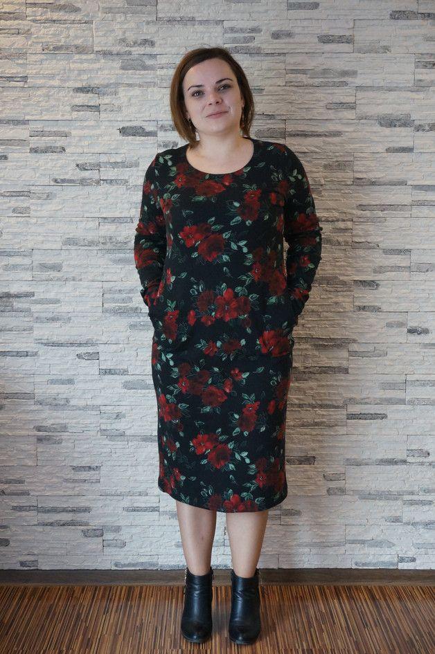 Kleider - 42 r, 44, Blumenkleid . Designerstück von HeWoj bei DaWanda floral dress black red