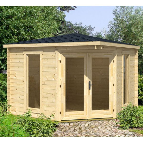 Small Summer House Uk Part - 39: Greenway 2.8m X 2.8m Ashdown Corner Log Cabin -http://www.