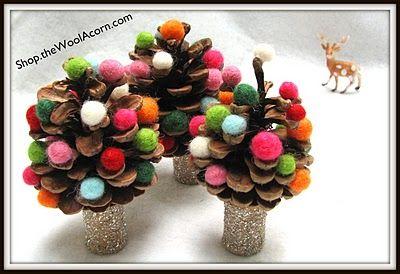 Pinecone Trees #christmas, #gift, #DIY, #craft