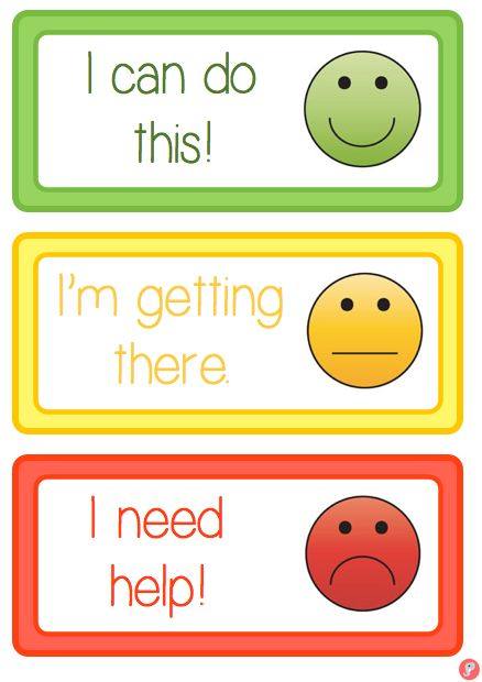 Smiley Face Self Assessment Labels / Cards | Just Teach It
