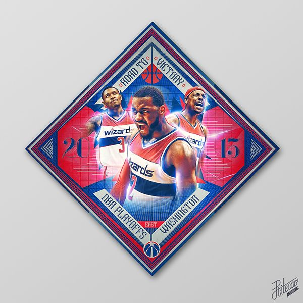 "Wizards: 2015 NBA Playoffs ""Collection"" by Caroline Blanchet on Behance"