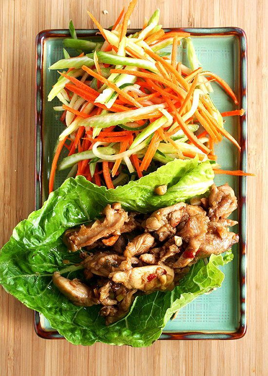 Asian Lettuce Wraps by alexandracooks. Recipe from Almost Meatless by Tara Mataraza and Joy Manning #Lettuce_Wraps #Asian