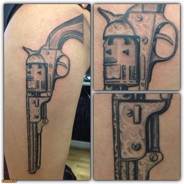 17 best ideas about pistol gun tattoos on pinterest for Gun holster tattoo