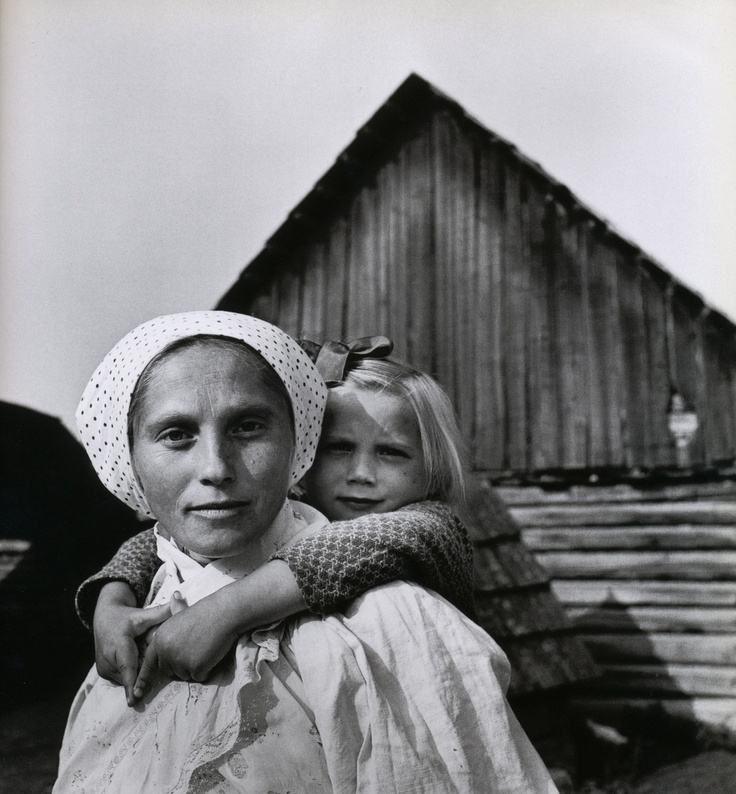 Mother and child, southern Slovakia, 1955    From René Burri Photographs