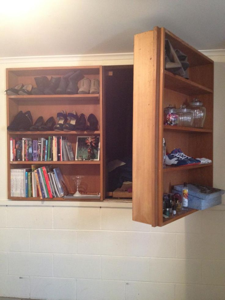 Hidden Compartment Behind A Cabinet Nice Look