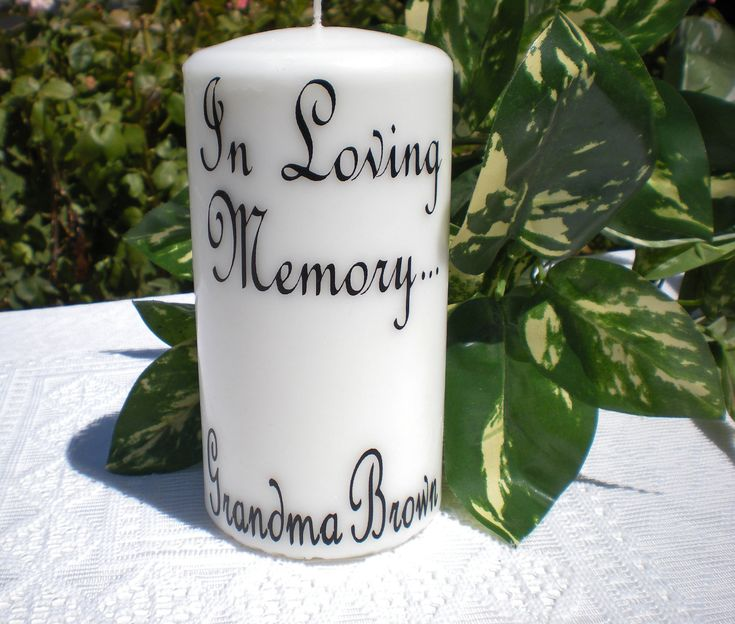 Wedding Rememberance Candle Decal Candle Not Included