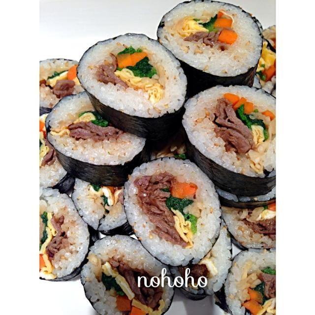 レシピとお料理がひらめくSnapDish - 29件のもぐもぐ - 韓国風のり巻き(キンパ) by nohoho