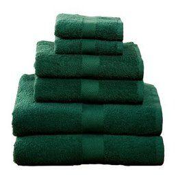 Color Esmeralda Emerald Green Bath Towels Color
