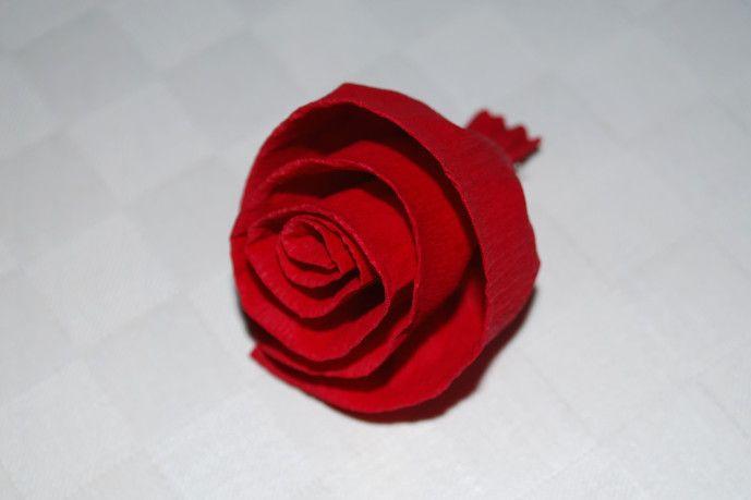 Rosen basteln - Kinderspiele-Welt.de