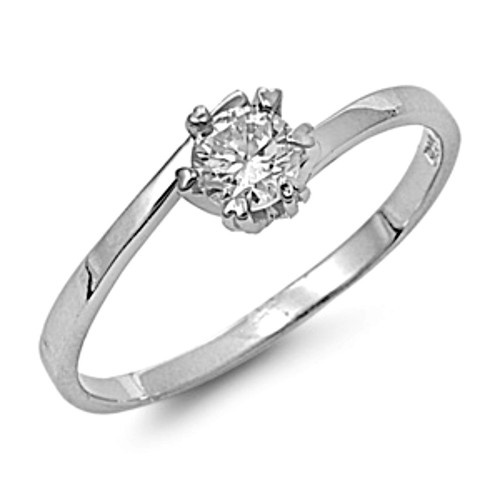 $11.99 Promise ring or small engagement ring size 4 5 6 7 8 9, .50 carat CZ in sterling silver .925, free shipping #promisering #engagementring