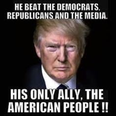 He doesn't need a party. He has the true Americans that don't pander to no one