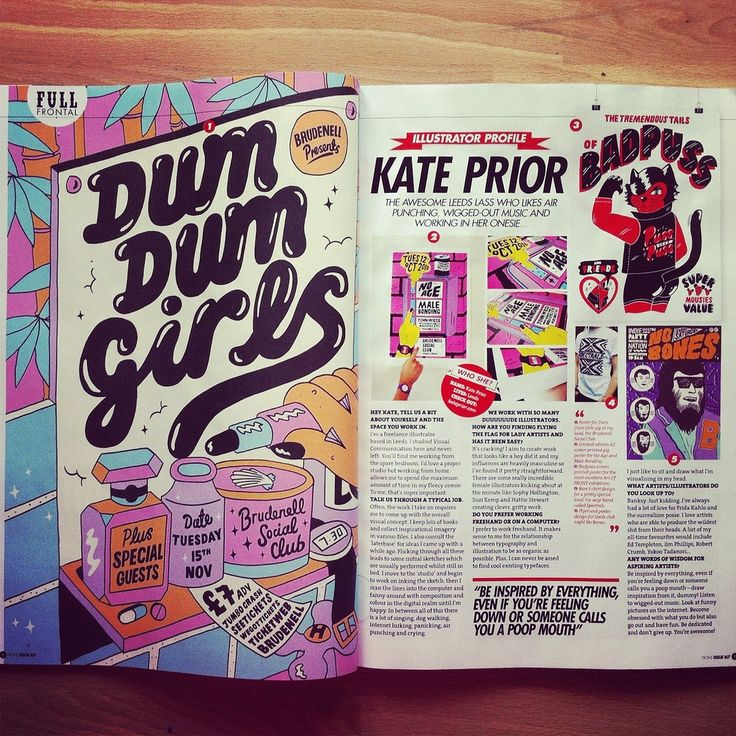 Ay yo check out my double page spread in this month's Front magazine...