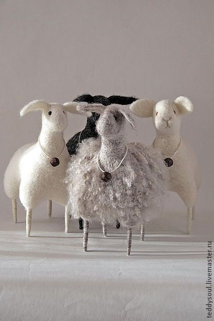felted sheep: