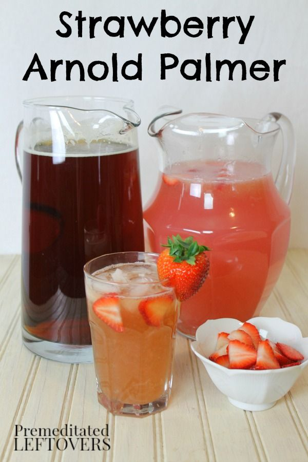 How to Make a Strawberry Arnold Palmer Drink Recipe Using Ice Tea and Pink Lemonade.