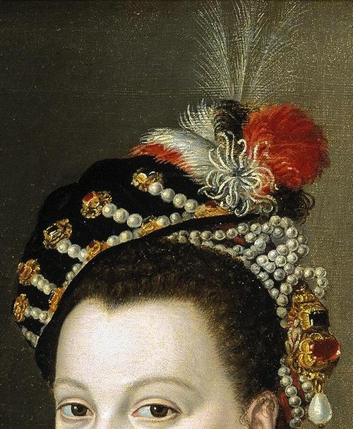La reina Isabel de Valois, tercera esposa de Felipe II by Sofonisba Anguissola (ca. 1532-1625), copia por Juan Pantoja de la Cruz (1553-1608) Lienzo, 119 x 84 cm. museo del Prado,Madrid