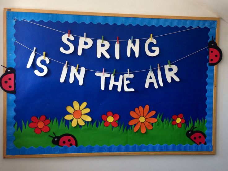 Spring, bulletin boards , kindergarten , Cambridge school of Bucharest, Spring flowers, flowers, spring is in the air, colors, lady bugs. Spring bulletin boards