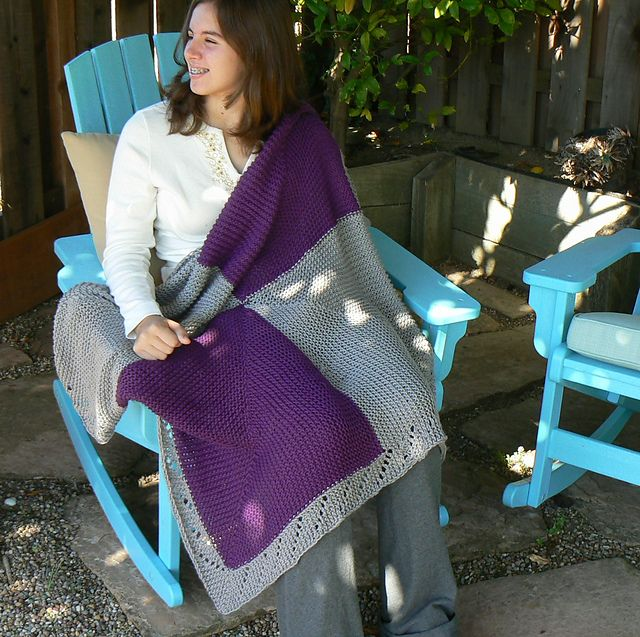 Ravelry: Maxed Out Squares: A Loom Knit Blanket in Three Sizes pattern by Renee Van Hoy