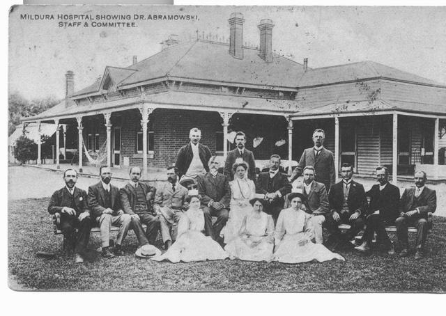 Mildura Hospital showing Dr. Abramowski Staff & Commitee.