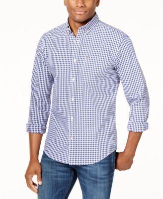 eea179865 Tommy Hilfiger Men's Long-Sleeve Twain Check Classic Fit Shirt | macys.com