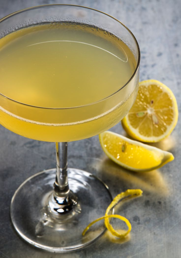 The Bee's Knees: A cocktail made with honey, lemon, gin and lavender.