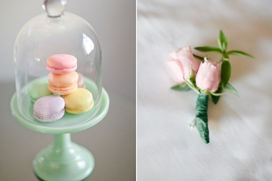 This Bride Killed It In Her Little White Wedding Dress #refinery29  http://www.refinery29.com/100-layer-cake/55#slide18  Macaroons: Bread & Cie Bakery.