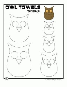 Adorable owl template! And hand towel tutorial.