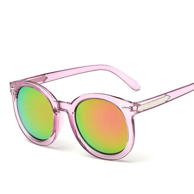 Lunettes De Soleil Wild Fox Reflective Bright Color Female Sunglasses Cadre Transparent Argenté Réfléchissant ab0Mez