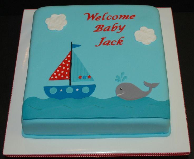 Nautical Baby Shower Sheet Cake