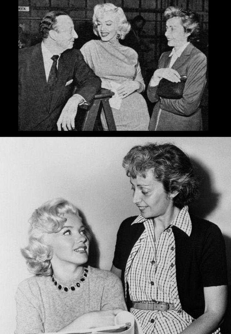 """1953 """"Gentlemen prefer blondes"""" (Les hommes préfèrent les blondes) de Howard HAWKS / Marilyn sur le plateau du tournage, notamment avec Natasha LYTESS, son professeur d'Art Dramatique : COMMENTAIRE / Comme la majorité des comédies musicales, """"Les Hommes préfèrent les blondes"""" est l'adaptation d'un succès de Broadway. Le spectacle qui devait donner lieu au film était l'un des plus grands triomphes de la scène à New York depuis 4 ans. Darryl ZANUCK et HAWKS choisirent Marilyn pour tenir le…"""
