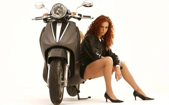 Piaggio Beverly Cruisers With Beautiful Girl