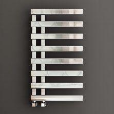 800x450mm Chrome Designer Towel Radiator - Flat Panel