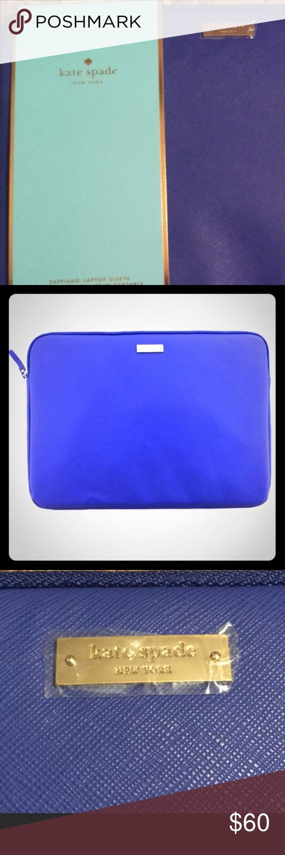 ⏰SALE⏰Kate Spade New York Laptop Sleeve Royal Blue Kate Spade New York Laptop Sleeve Blue Holds 13 inch MacBook. Authentic Kate Spade photos shows authenticity. Perfect for a man or a woman kate spade Bags Laptop Bags