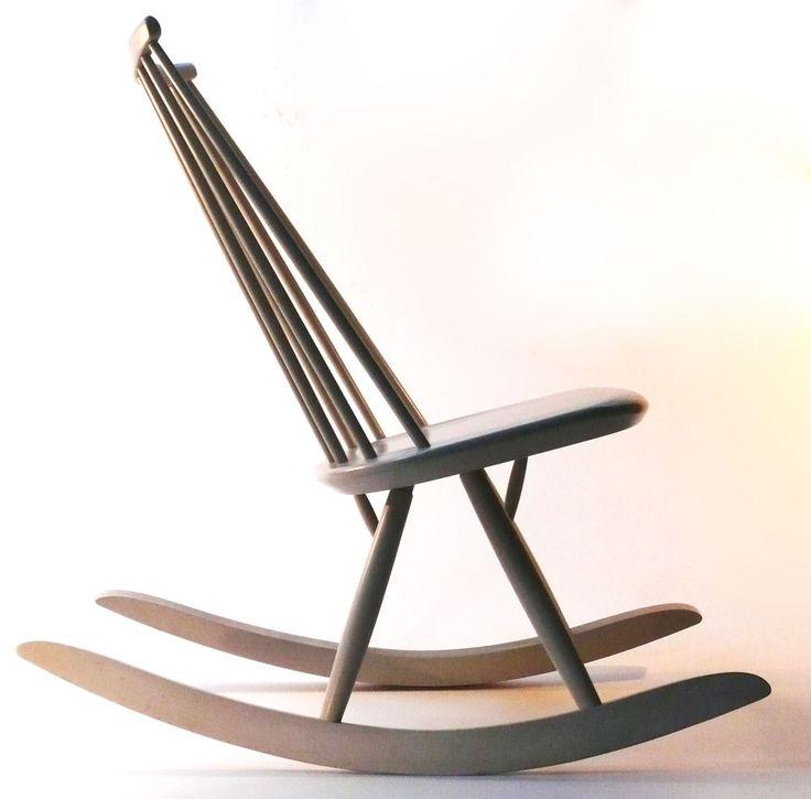 orig. Tapiovaara Schaukelstuhl 1956 Mademoiselle rocking chair 60er danish teak in Antiquitäten & Kunst, Design & Stil, 1960-1969 | eBay
