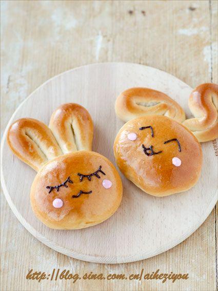 爱和自由_新浪博客 mais qui aurait l'audace à Paris de lancer des brioches aussi mignonnes dans sa boulangerie? Trop cute!