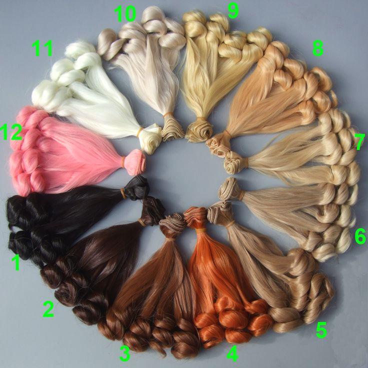 Купить 15 см брюнетки блондинки кофе черный коричневый натуральный цвет вьющиеся высокой температура кукла парики волос для 1/3 1/4 1/6 BJD SD diyи другие товары категории Аксессуары для куколв магазине Top1 Fashion storeнаAliExpress. парик цвет волос и парик утка