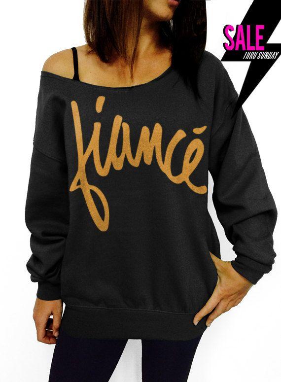 "Use coupon code ""pinterest"" Fiance - Signature - Black with Gold Slouchy Oversized Sweatshirt by DentzDenim"