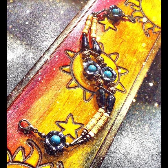 Best Hematite And Turquoise Bracelet Black Onyx Hematite 400 x 300