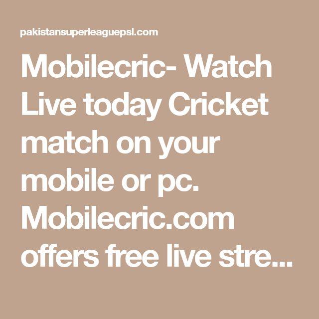 Mobilecric com ipl 2018